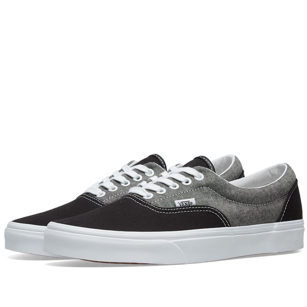e2e0802cb0 Vans UA Era Chambray Canvas Black   True White