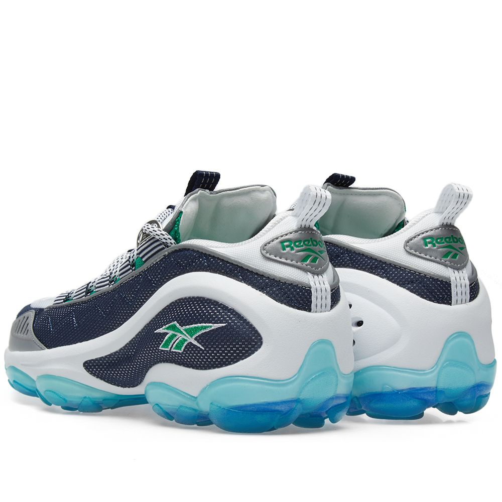 b6f35918960 Reebok DMX Run 10 Infinite Blue   Big Green