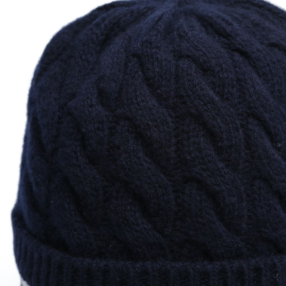 145e98e4be8 Moncler Sport Trim Insert Cable Beanie Navy