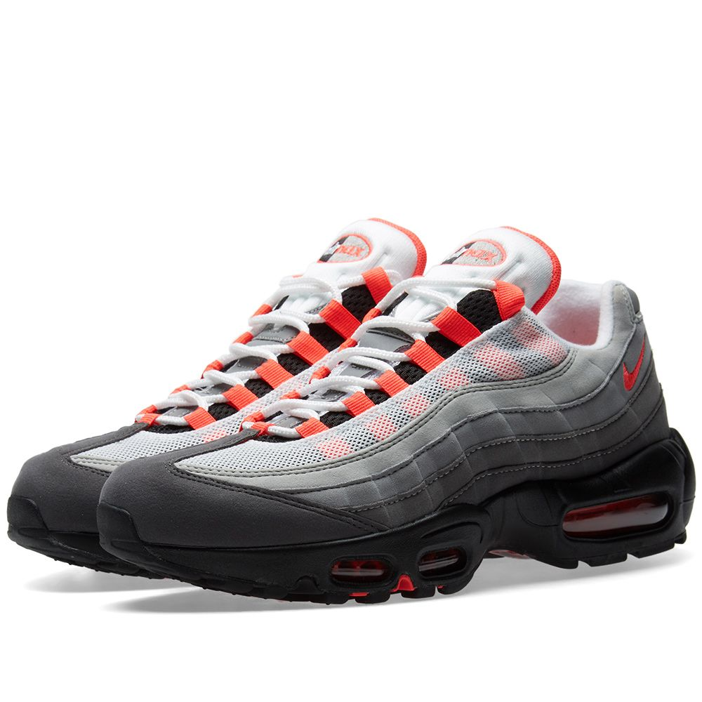 Nike Air Max 95 White   Solar Red  896f80a4762b