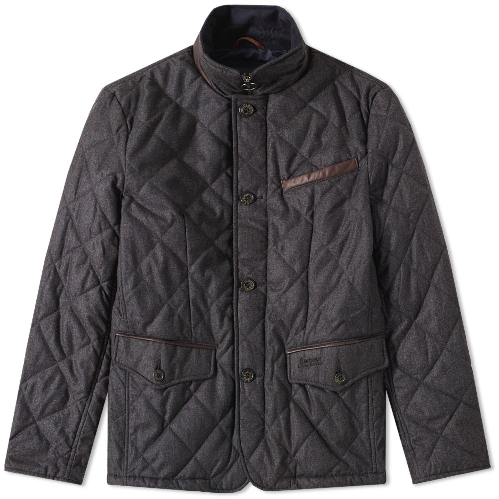 Barbour X Land Rover Filey Quilt Jacket Charcoal End