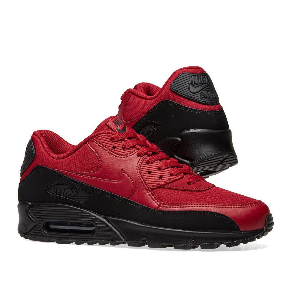 bac0112b68 Nike Air Max 90 Essential Black   Red