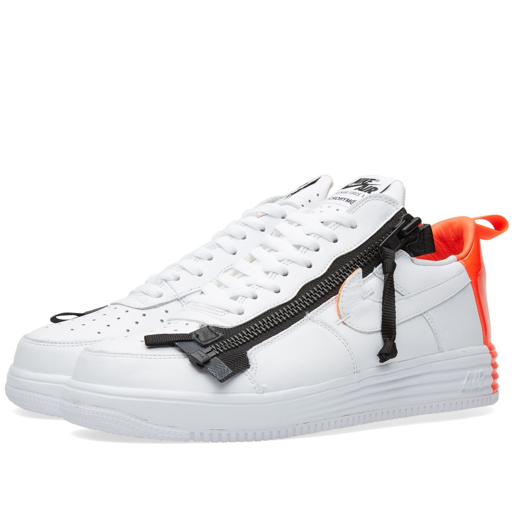 dbb5cd2a6fcb Nike x Acronym Lunar Force 1 SP White   Bright Crimson