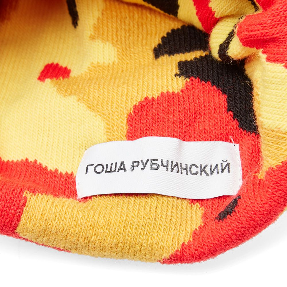 72779ee50c2 Gosha Rubchinskiy Hardcore Knit Beanie Camo Red