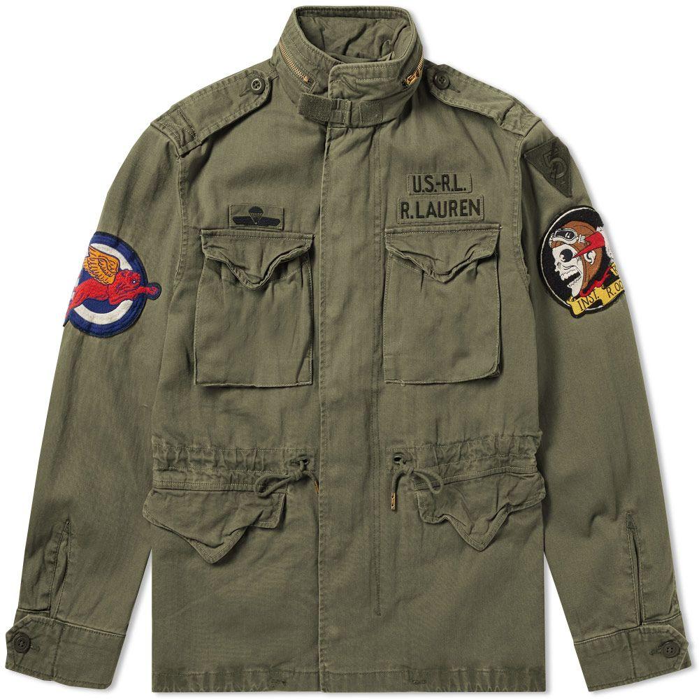 6edb7e670a3 Polo Ralph Lauren M-65 Combat Jacket Soldier Olive