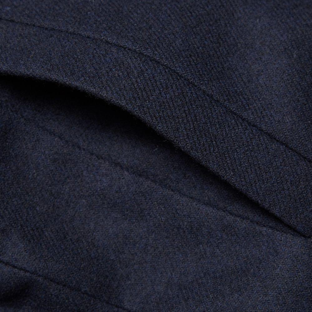 4b547ac0b71 Norse Projects Birk Wool Pea Coat Dark Navy