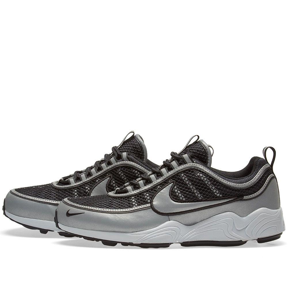 Nike Air Zoom Spiridon  16 Black   Metallic Silver  cf90deebf