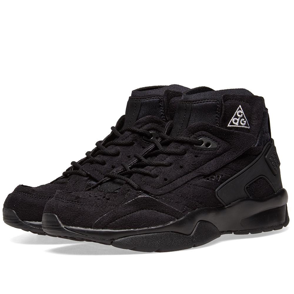 outlet store 9d26a d76a5 Comme des Garcons x Nike ACG Mowabb Black  END.