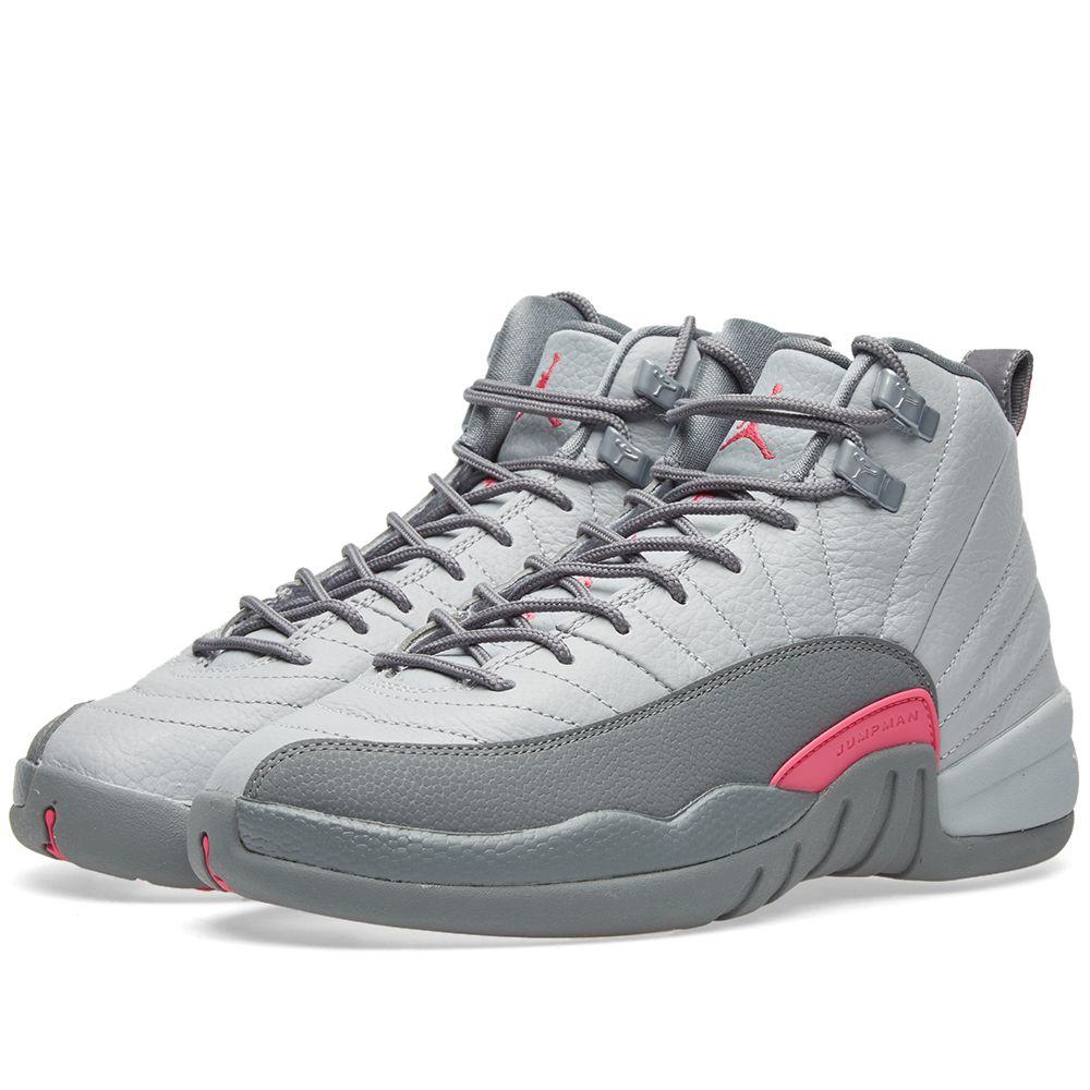 c47e35388934 Nike Air Jordan 12 Retro GG Wolf Grey   Vivid Pink