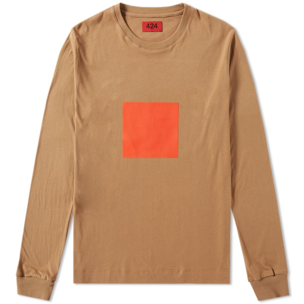 997c7d68ffa 424 Long Sleeve Depot Tee Camel & Orange | END.