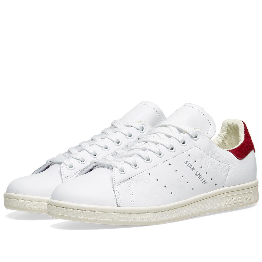 Adidas Stan Smith W White   Collegiate Burgundy  b23da7f2b