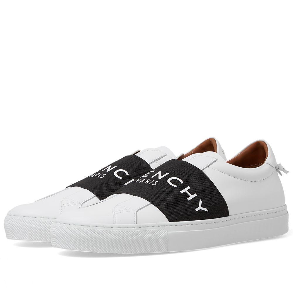 aa0ecc01d726b Givenchy Elastic Low Logo Sneaker White   Black