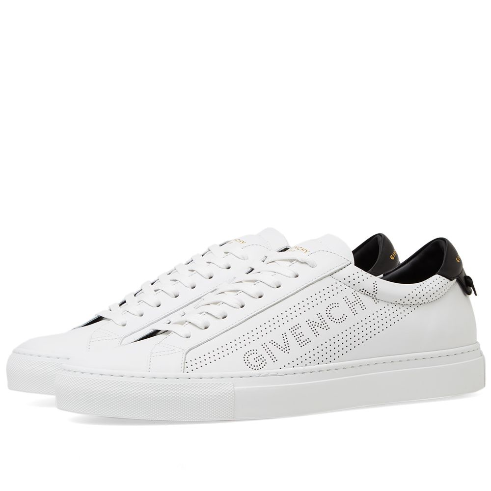 b0d0608525a2 Givenchy Perforated Street Sneaker White   Black