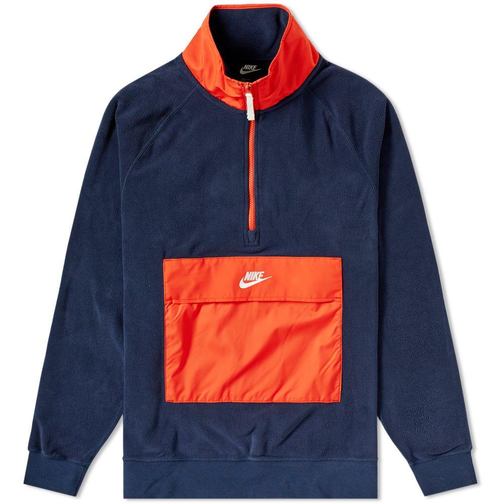 80620863fbe1 Nike Fleece Winter Half Zip Sweat Obsidian