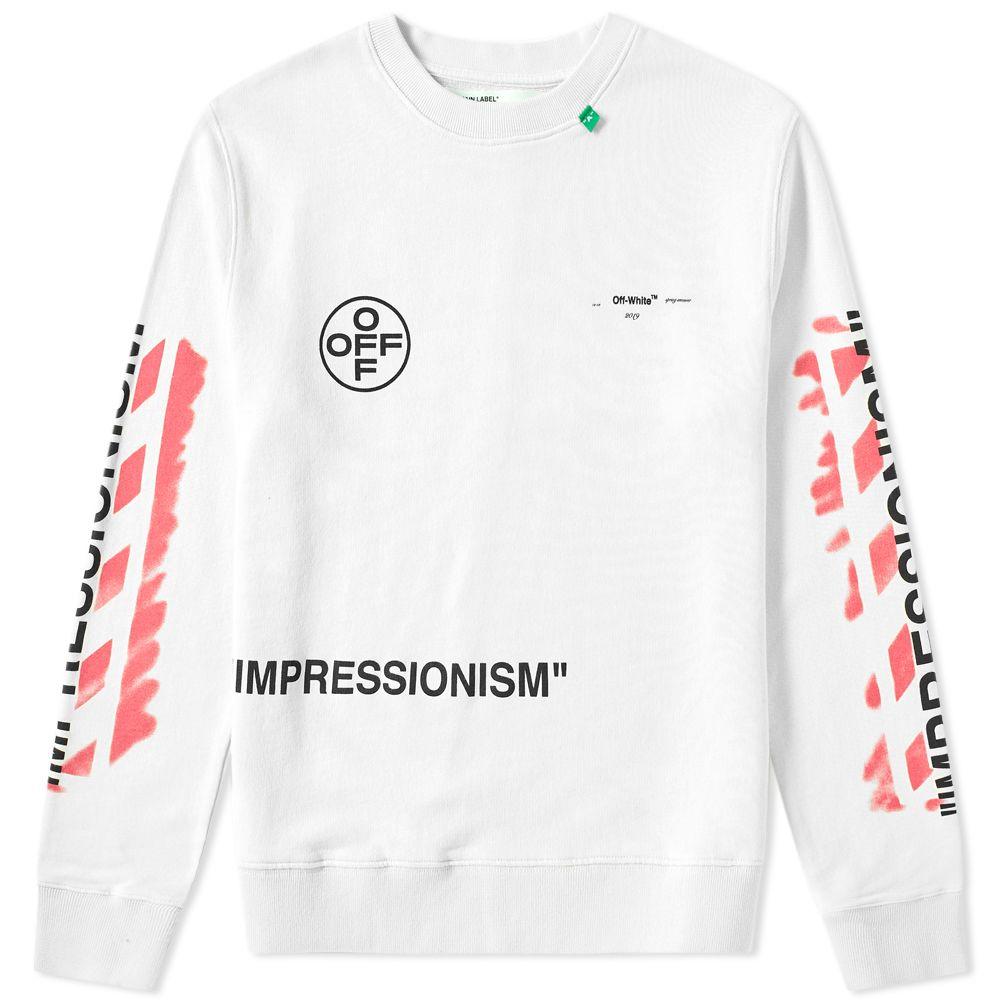 7848e31b8d Off-White Stencil Diagonals Crew Sweat White   Pink