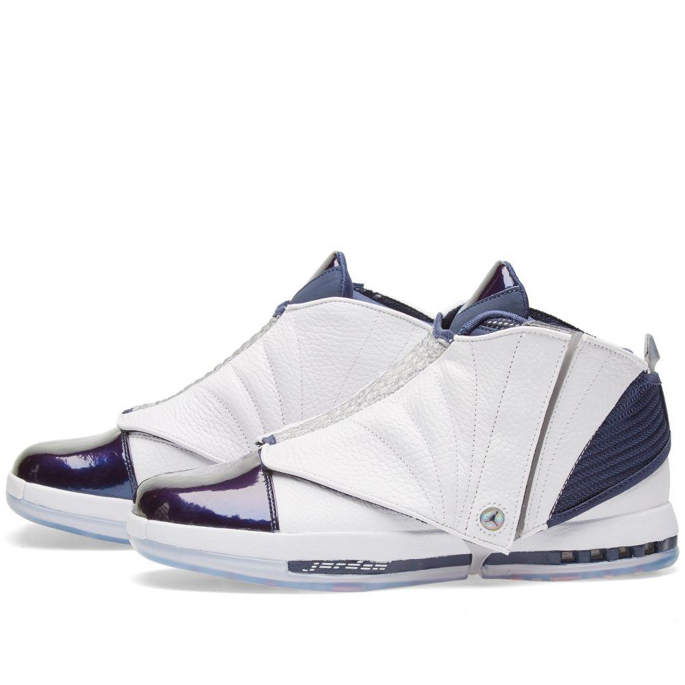 Nike Air Jordan 16 Retro White   Midnight Navy  e619b756b