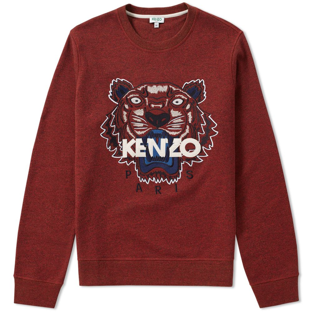 26430a1c Kenzo Tiger Face Crew Sweat Bordeaux | END.
