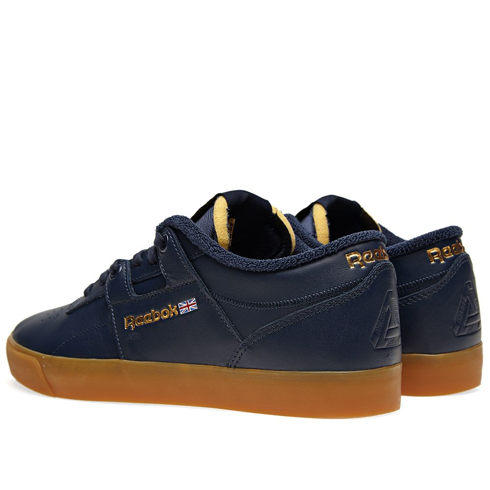 Reebok x Palace Workout Low Clean FVS Collegiate Navy   White  57c1c4b6d