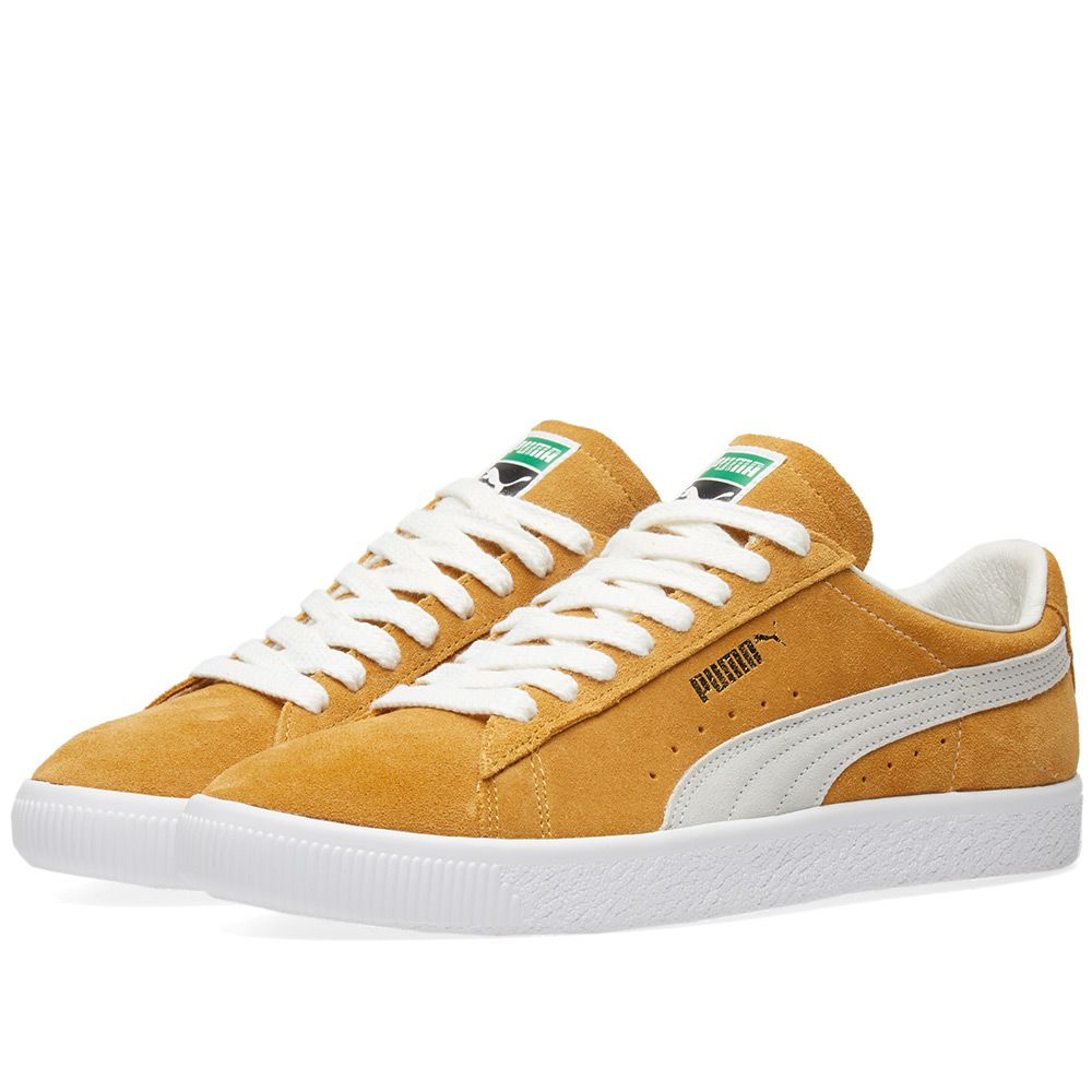 ace5b8d471d9 Puma Suede 90681 OG Pack Honey Mustard   Puma White