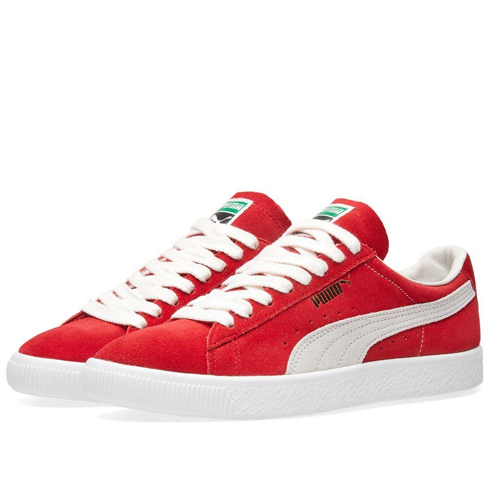 Puma Suede 90681 OG Pack Ribbon Red   Puma White  1fd55d1cb