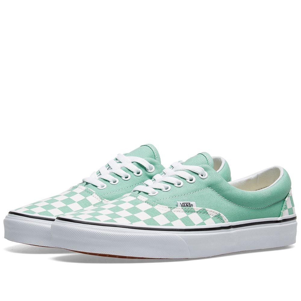 4220f2be12a5c8 Vans UA Era Checkerboard Neptune Green   True White