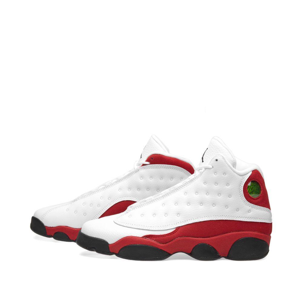 uk availability fd443 49141 Nike Air Jordan 13 Retro BG White, Black   True Red   END.