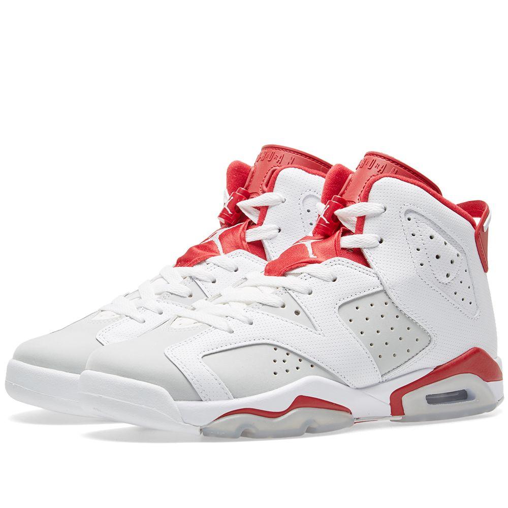 174536b44f24bc ... best price nike air jordan 6 retro white gym red pure platinum end.  6a371 677ea