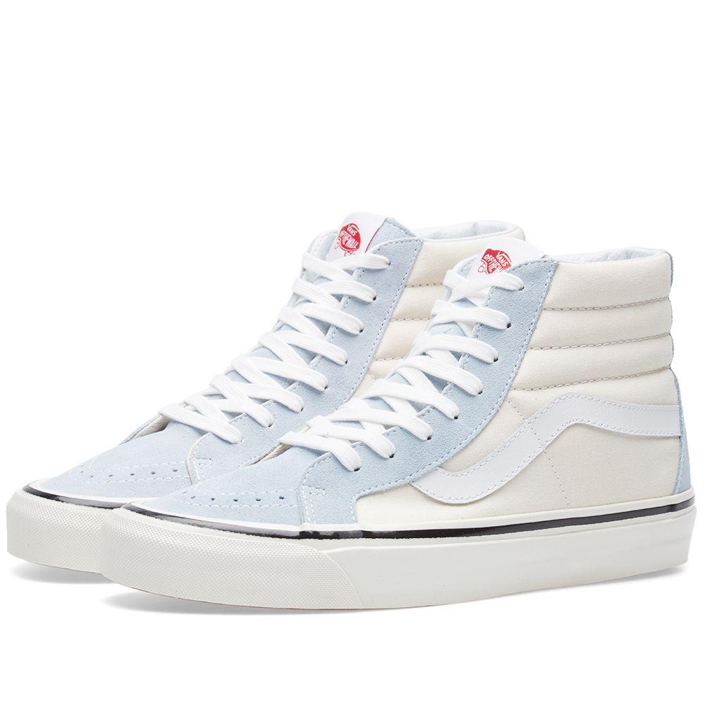 609985e7f5 Vans SK8-Hi 38 DX Light Blue   White