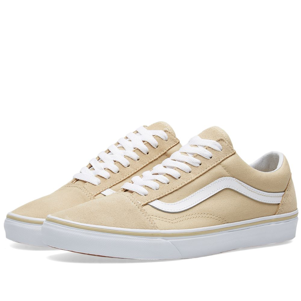 Vans Women s Old Skool. Pale Khaki   White. £55. Plus Free Shipping. image 87f2174729