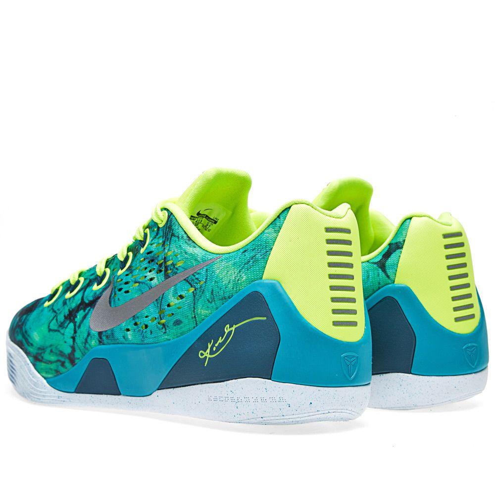 0bb465b088b1 Nike Kobe IX EM  Easter  Turbo Green   Metallic Silver