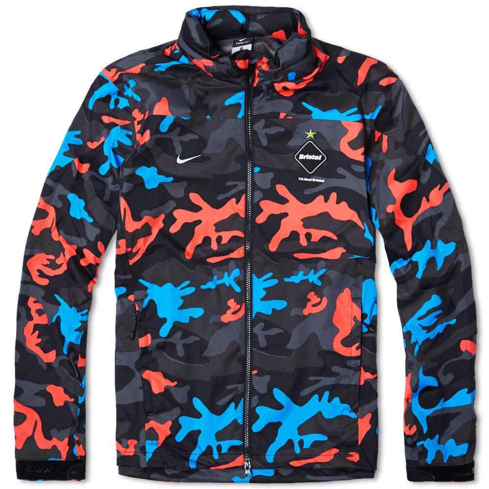 49ee7640 Nike F.C. Real Bristol Storm-Fit Warm Up Jacket Laser Crimson Camo ...