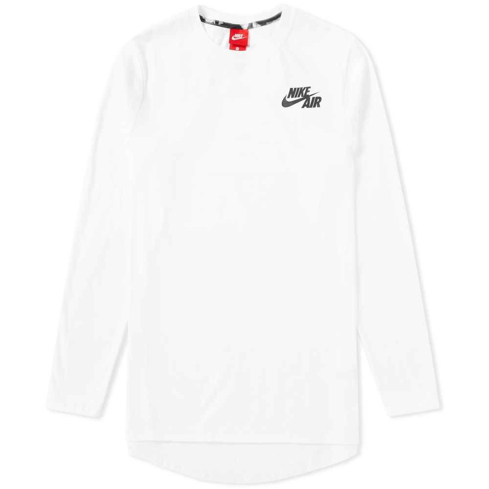 4cc00834c403 Nike Air Long Sleeve Top White   Black