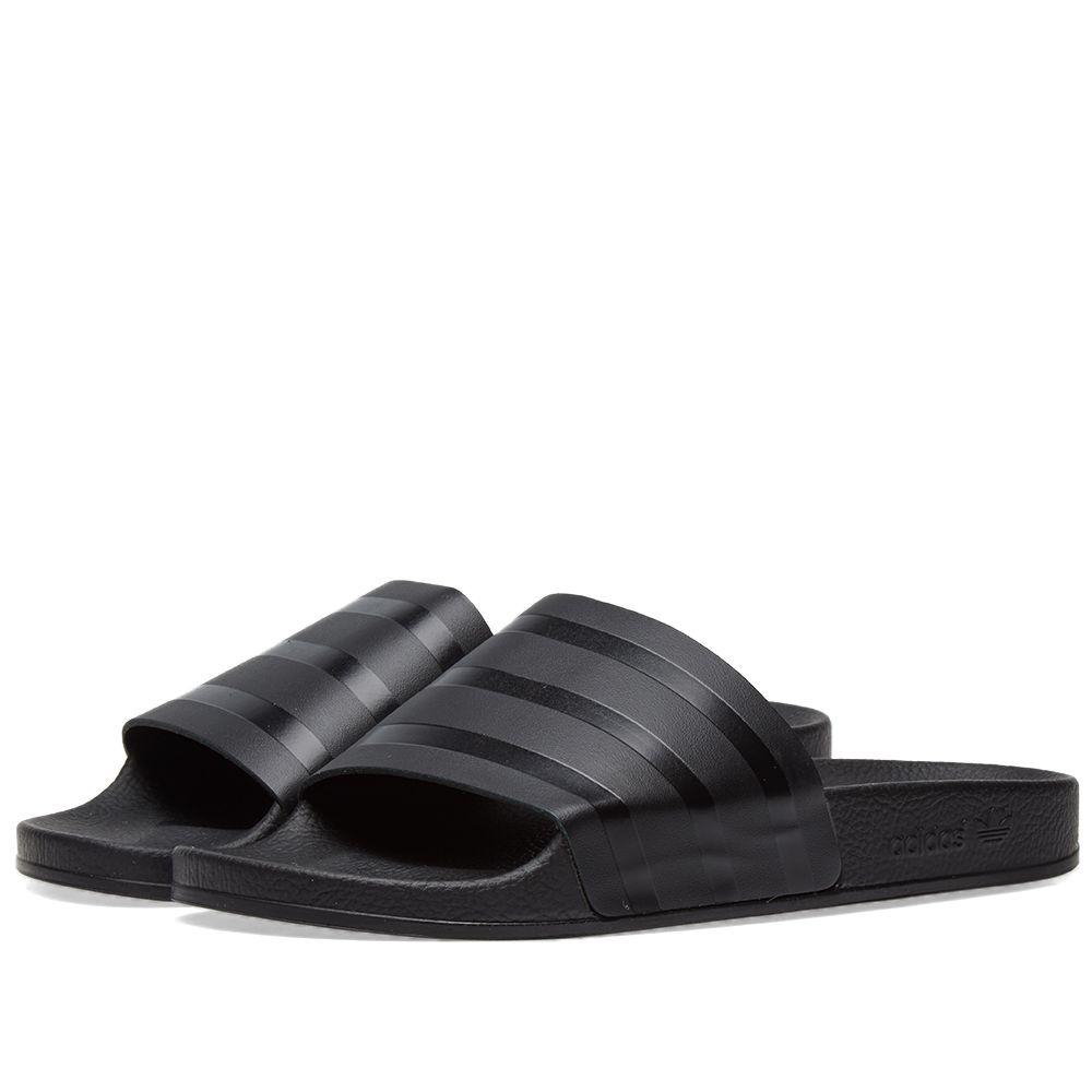 03838a4835fb Adidas Adilette Premium Black   Silver