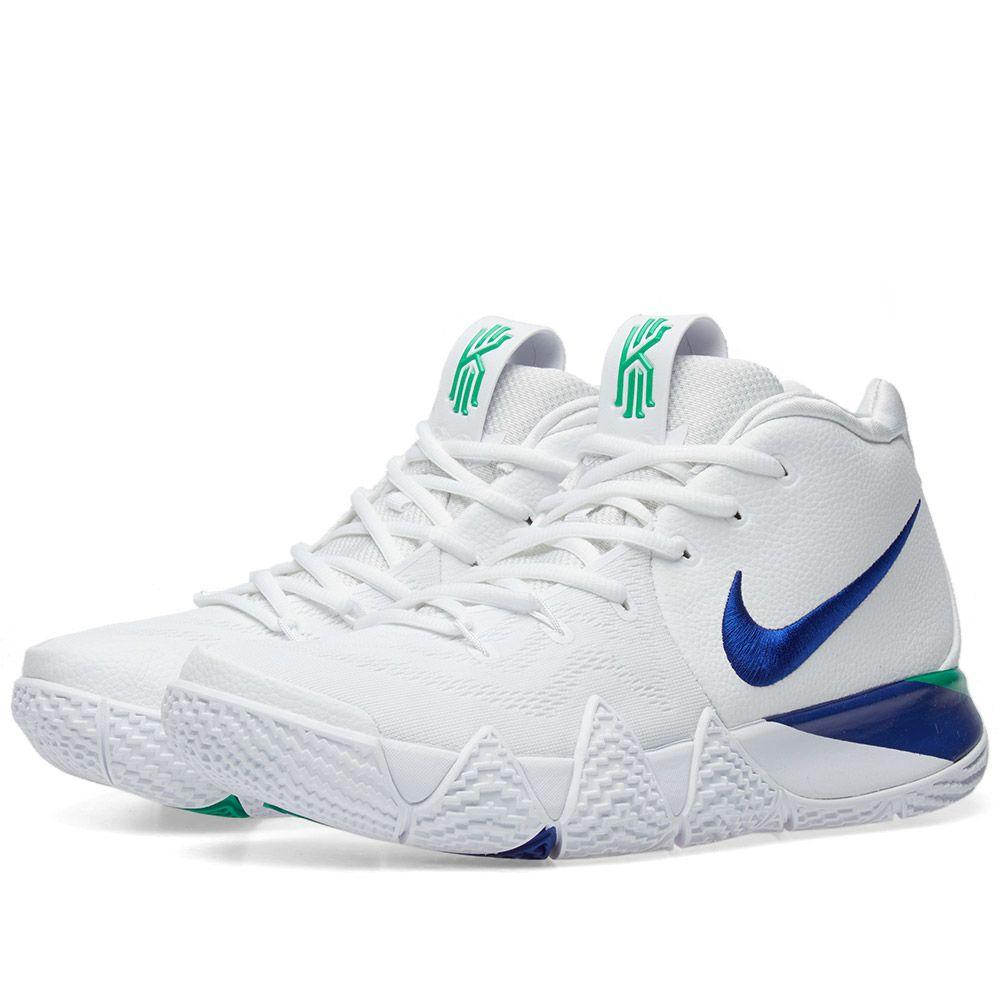 3c292b9a87aa Nike Kyrie 4 White   Deep Royal Blue