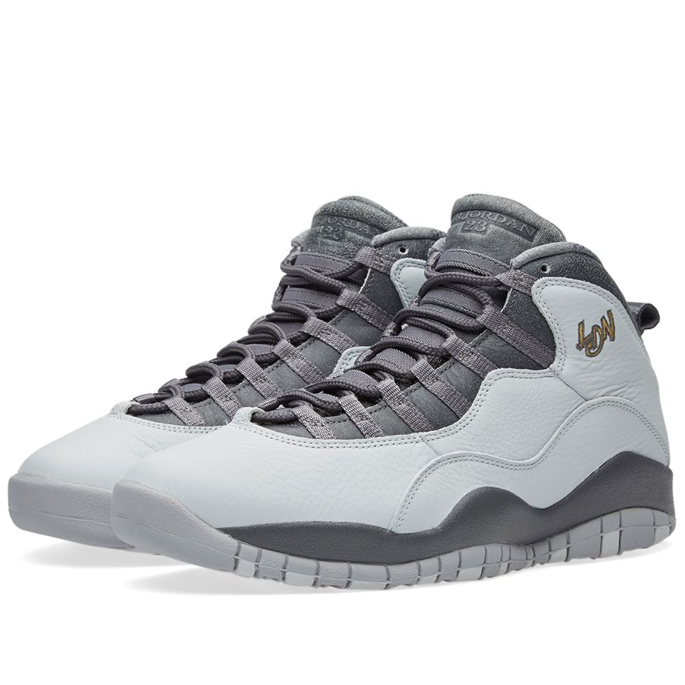 733d787f15ce3d Nike Air Jordan 10 Retro Pure Platinum   Metallic Gold