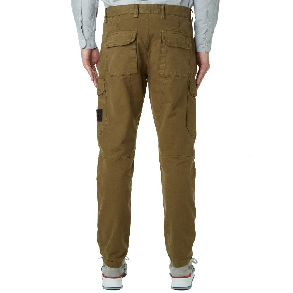 Stone Island Garment Dyed Cargo Pant Military Green | END.