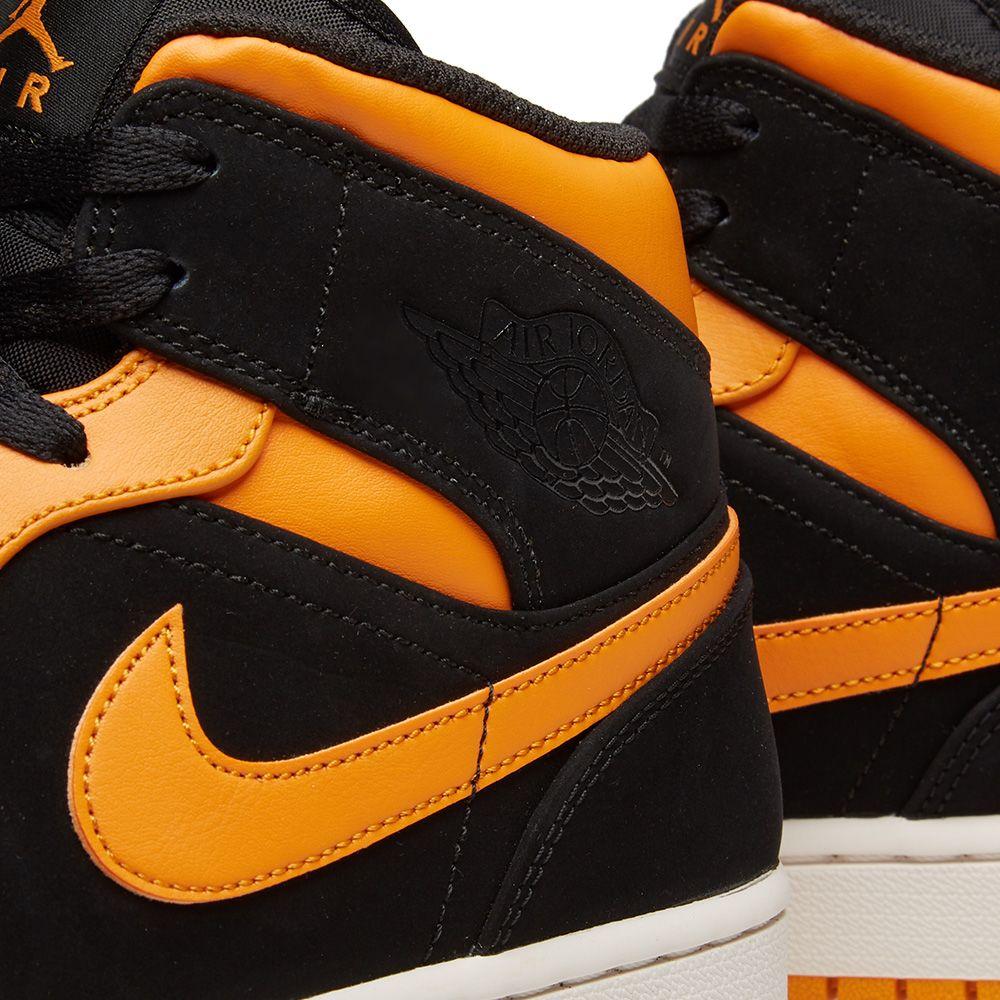 low priced 7eeef b25f1 Air Jordan 1 Mid. Black, Orange Peel ...