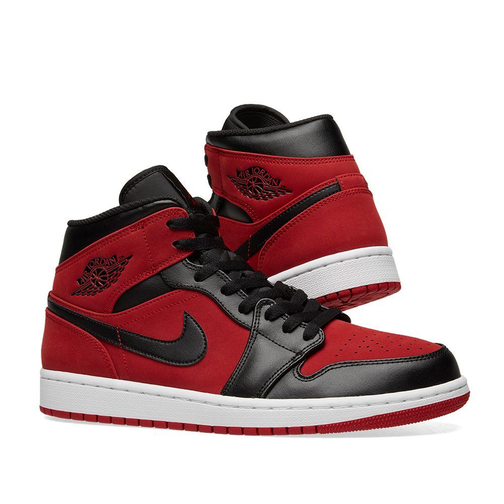 timeless design 7bcef 84a74 Air Jordan 1 Mid. Gym Red, Black   White