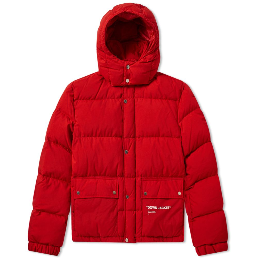 a49b40b87544 Off-White Quote Puffer Jacket Red   White