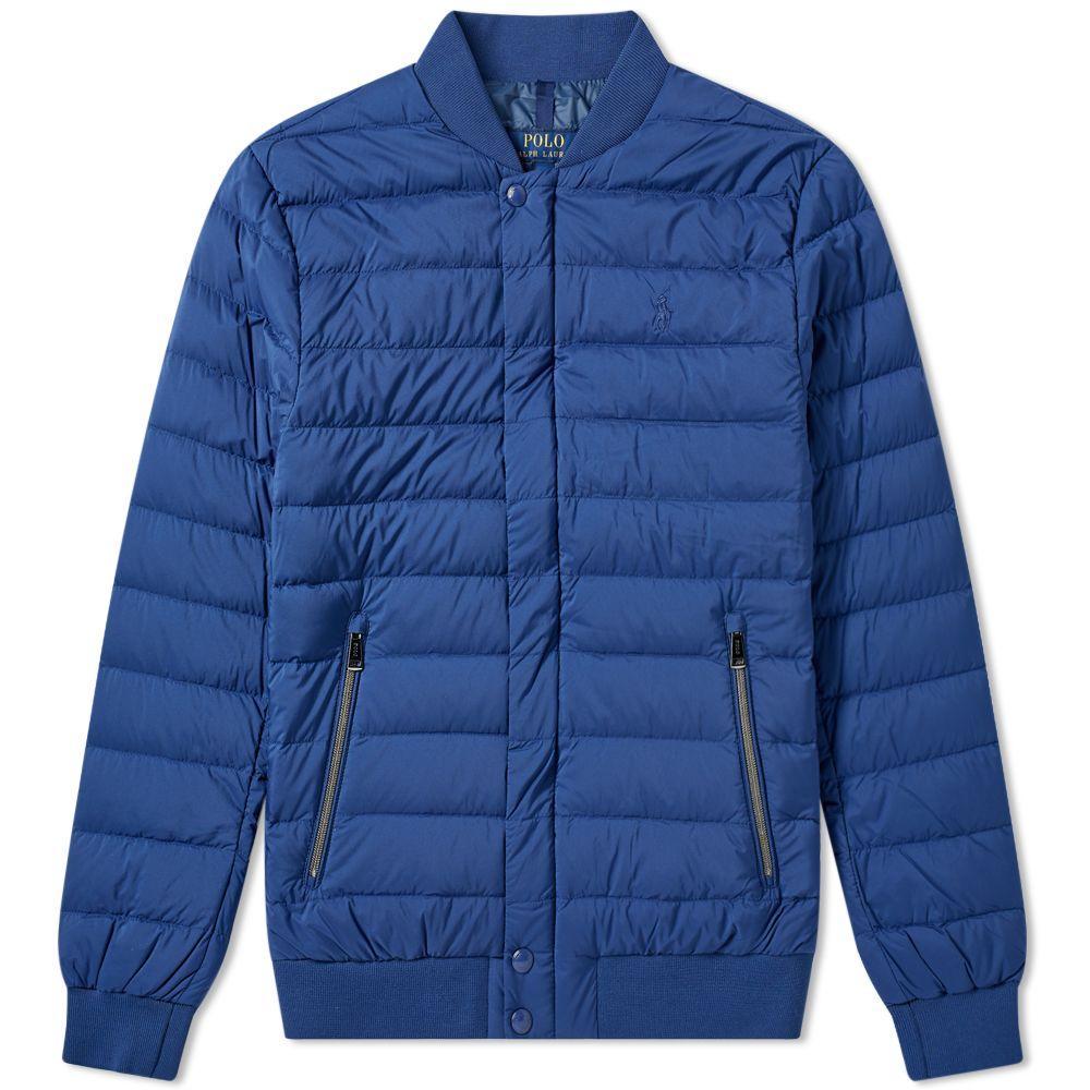 b466c0dd8cb1 Polo Ralph Lauren Lightweight Down Bomber Jacket Annapolis Blue
