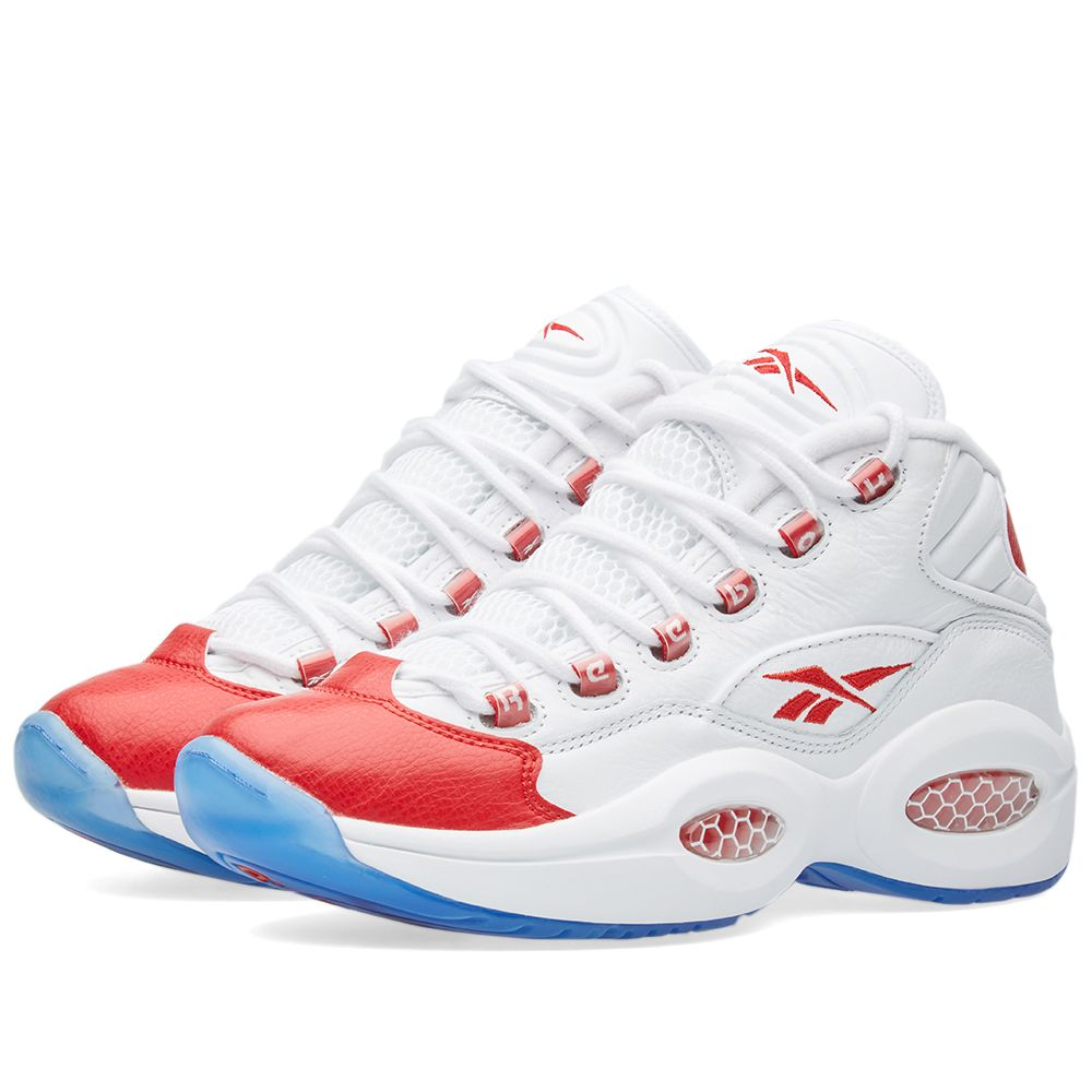 feff196ef2a Reebok Question 20th Anniversary White   Pearlized Red