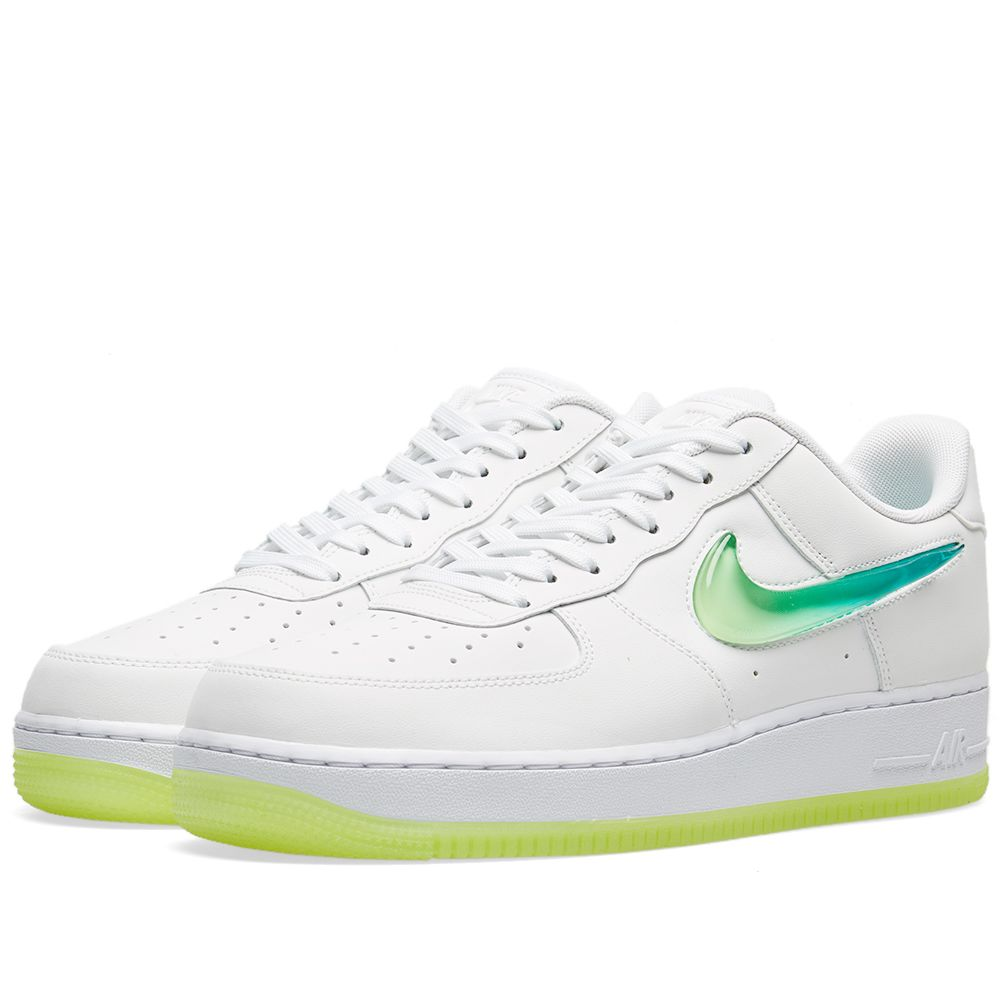 sale retailer 2f3f8 33734 Nike Air Force 1 07 Premium 2 Jelly Swoosh White, Volt  Jade