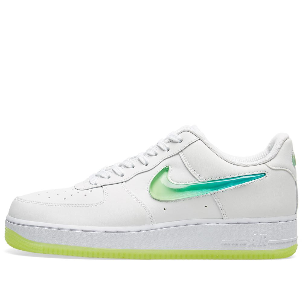 53c2ee78003 Nike Air Force 1  07 Premium 2  Jelly Swoosh  White