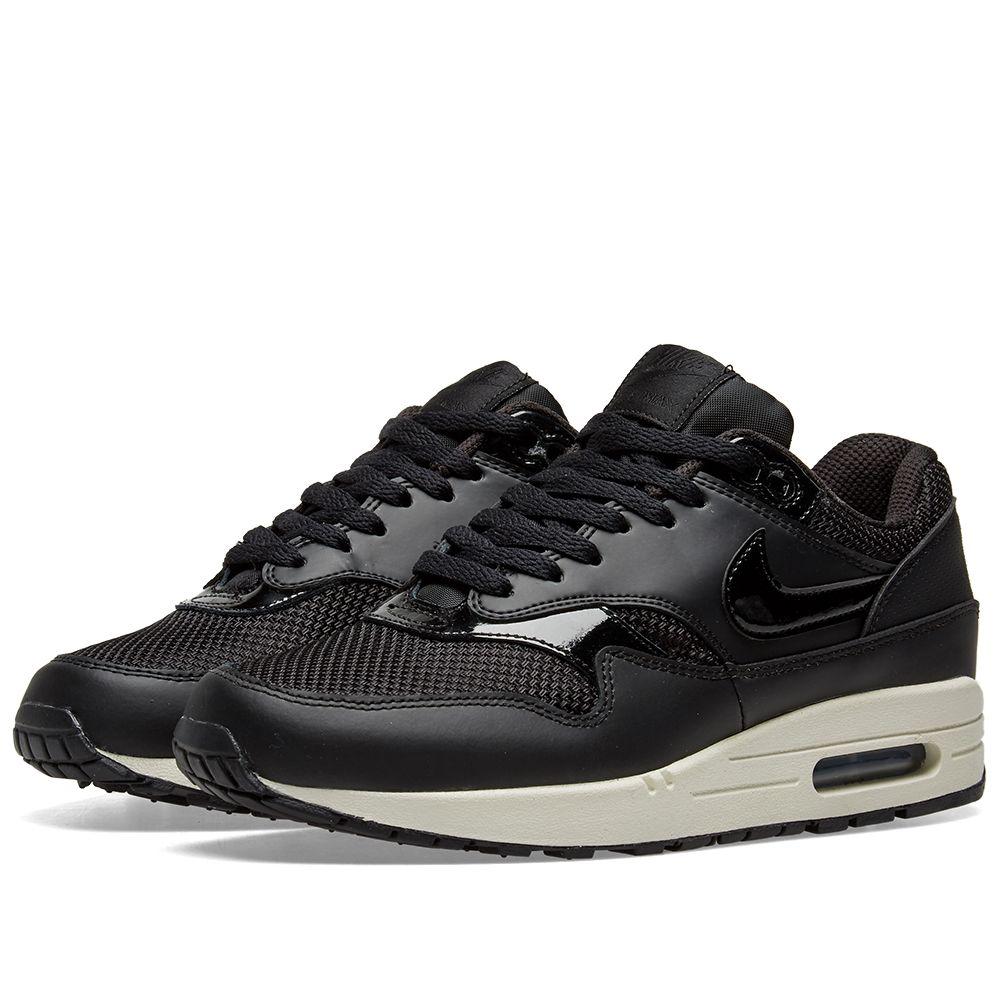 2d43e4300534 Nike Air Max 1 W Black   Summit White