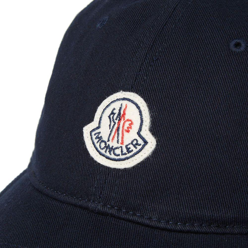 ed4439499cf Moncler Logo Baseball Cap Navy