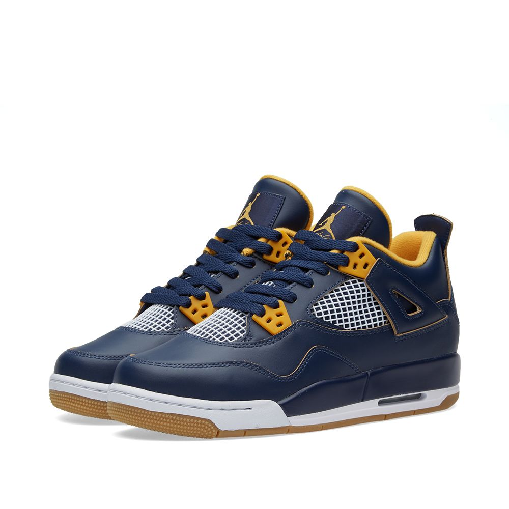 f97e832cab26 Nike Air Jordan IV Retro GS  Dunk From Above . Mid Navy   Metallic Gold.  HK 919 HK 535. image