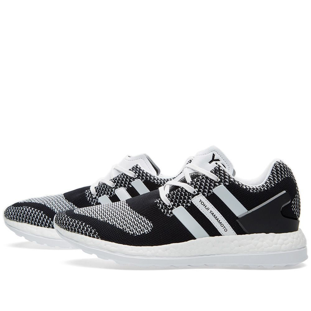 8fa45f55d6c4 Y-3 Pure Boost ZG Knit Black   White