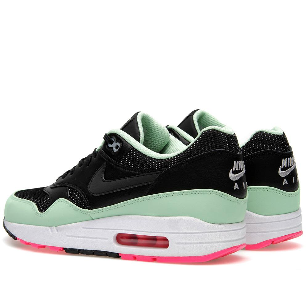 huge selection of 200ab bc3ce Nike Air Max 1 FB Yeezy Black, Fresh Mint  Pink Flash  END.