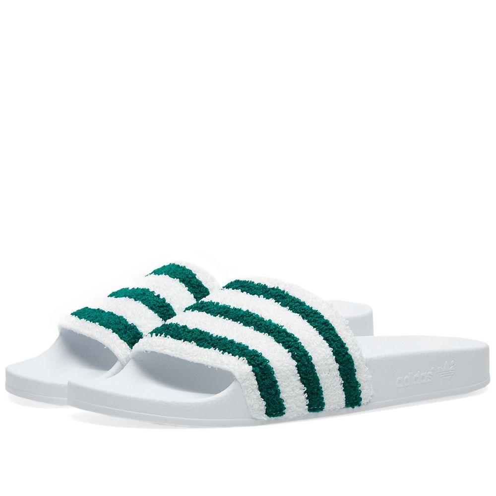 a329b3a53c00 Adidas Adilette. White   Sub Green. CA 49 CA 29. image