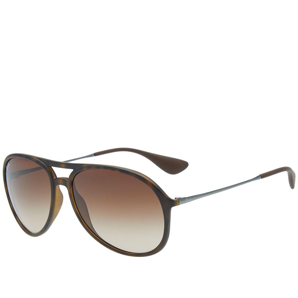 603d7010ee6 Ray Ban Alex Sunglasses Havana Rubber   Brown Gradient